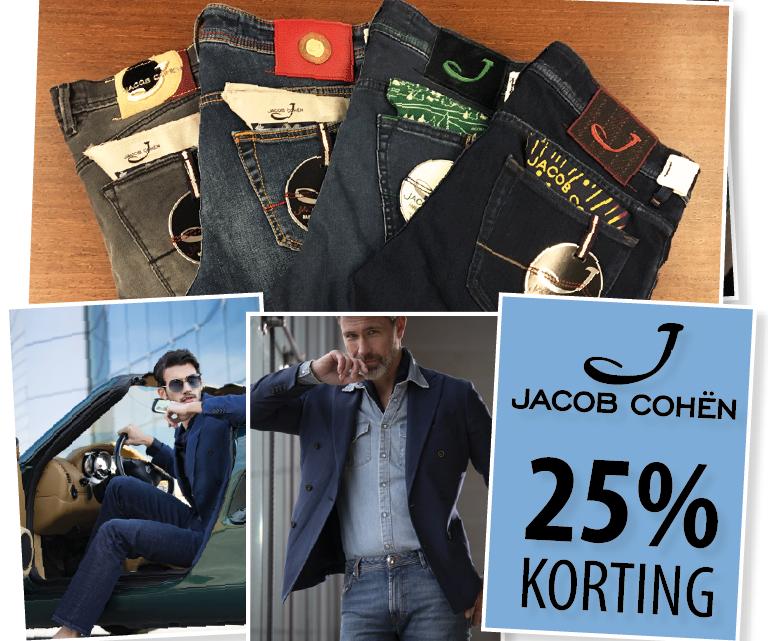 JACOB COHËN 25% KORTING